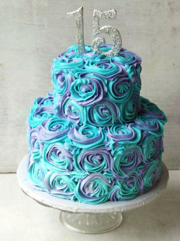 Blue Amp Purple Floral Cake Fresh Cream Cake Home Delivery